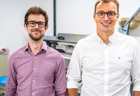 Echion founders Dr Alex Groombridge, CTO and Jean de La Verpilliere, CEO